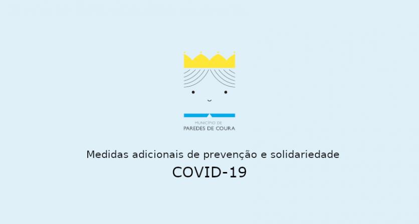 COVID-19 – Medidas adicionais de prevenção e solidariedade