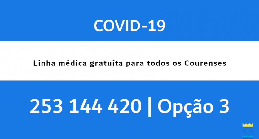 COVID-19| Linha médica gratuita para todos os courenses