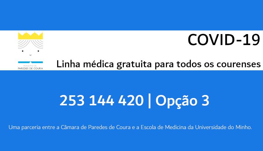 COVID-19  Linha médica gratuita para todos os courenses